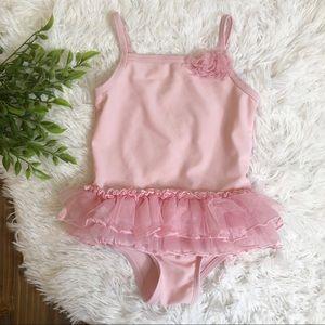 *3 FOR $15* Ballerina Tutu Pink Swimsuit 4T